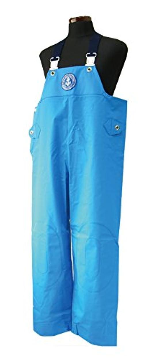 理論的りマトロンKURAHUTERU(クラフテル) イカリ印 フィッシャーマン レインウエアー 胸付ズボン S ブルー 11EA136