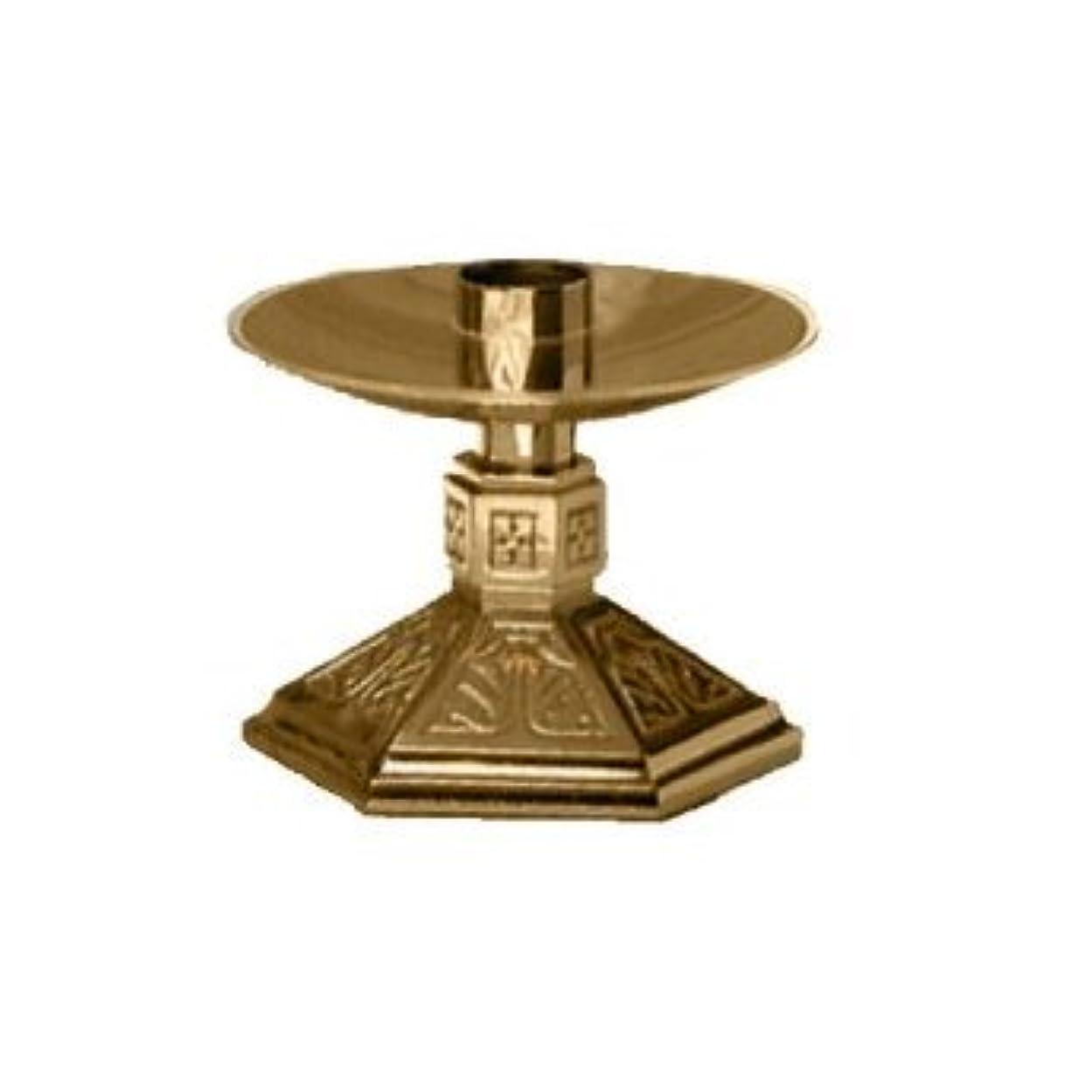 シールド多くの危険がある状況グッゲンハイム美術館Altar Candlestick Style: Satin Bronze 242-L-SBZ