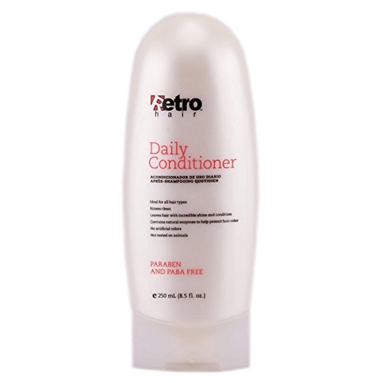 血色の良い歩き回る狂人Retro Hair Daily Conditioner, 8.5 Fluid Ounce by Retro Hair
