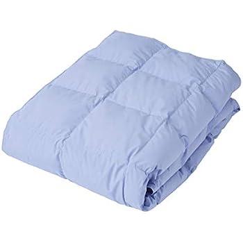 西川 リビング 掛けふとん ブルー シングル 150×210㎝ ダウン 70% 良質 羽毛 ダウンケット 丸洗い 清潔 1449-57461
