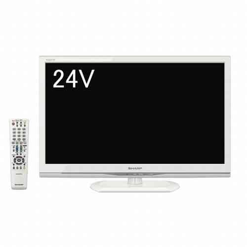 RoomClip商品情報 - シャープ 24V型 ハイビジョン 液晶 テレビ AQUOS LC-24K9W  ホワイト
