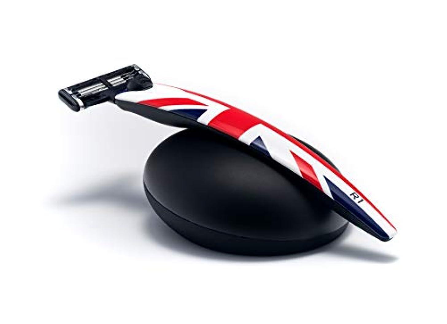 典型的な邪魔する子供っぽいイギリス BolinWebb カミソリ 名車と同じ塗装を施した プレミアムシェーバー R1 Jack ギフトセット モデル 替刃はジレット 3枚刃 マッハ3 に対応