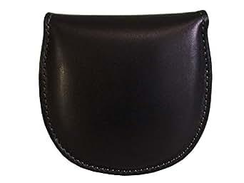 牛革製 馬蹄型コインケース 黒