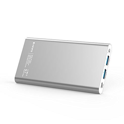 Kinps モバイルバッテリー 10000mAh 2USBポート MicroUSBケーブル付き 全機...