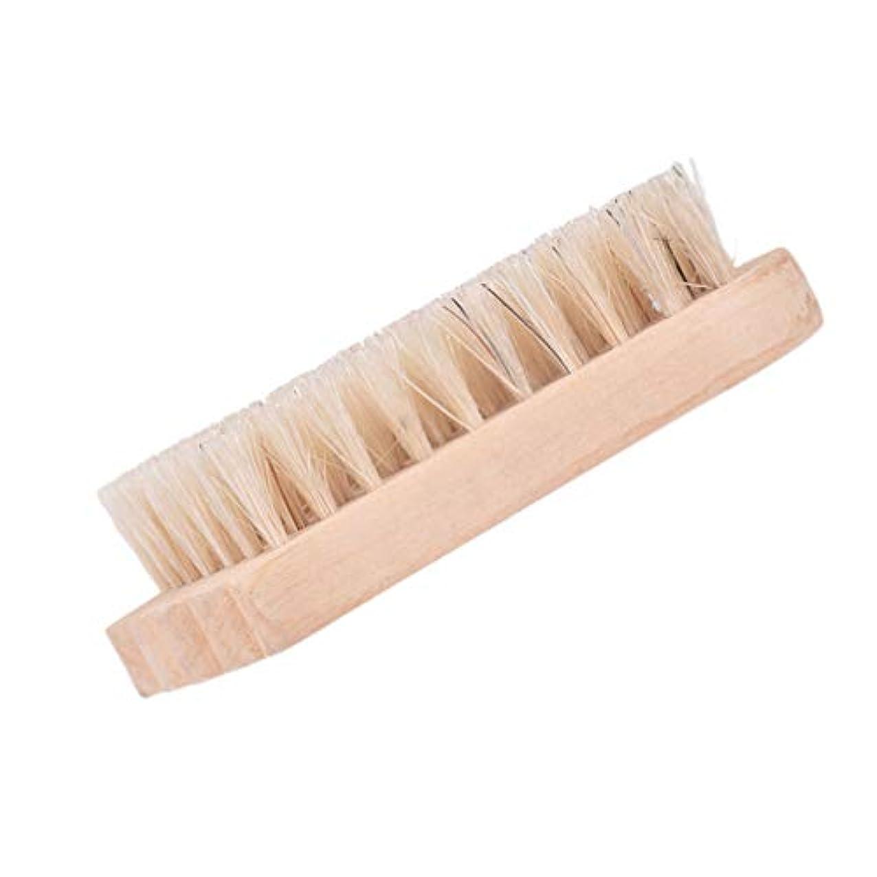 北西ラッドヤードキップリング伝染性のLurrose 2ピース木製ネイルブラシ爪スクラブクリーニングブラシ手スクラブクリーニングブラシ