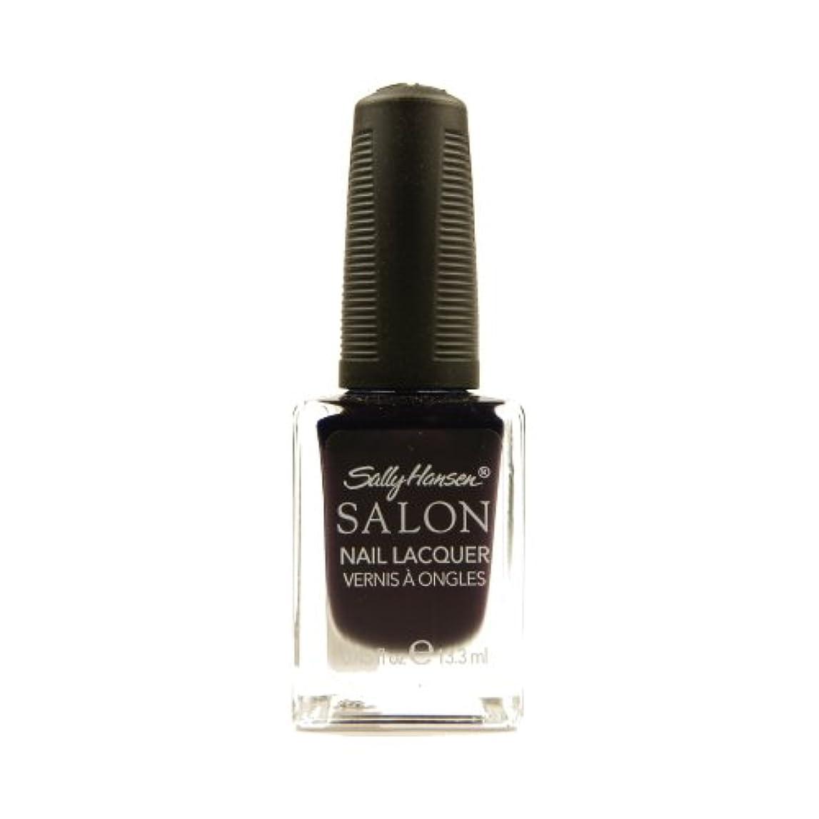 区別マチュピチュ雪だるまSALLY HANSEN Salon Nail Lacquer 4134 - The Deepest of Violets (並行輸入品)