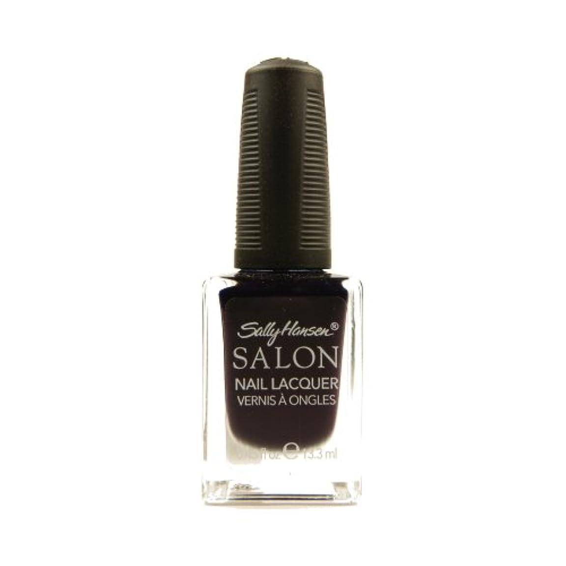 脆い航海の繰り返すSALLY HANSEN Salon Nail Lacquer 4134 - The Deepest of Violets (並行輸入品)