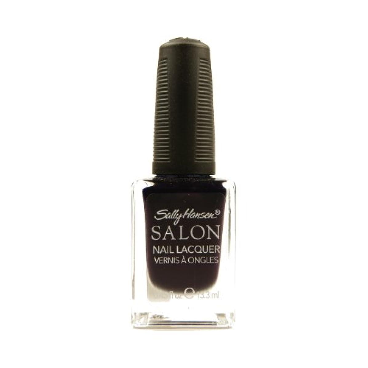 オプショナル慣れる偽造SALLY HANSEN Salon Nail Lacquer 4134 - The Deepest of Violets (並行輸入品)