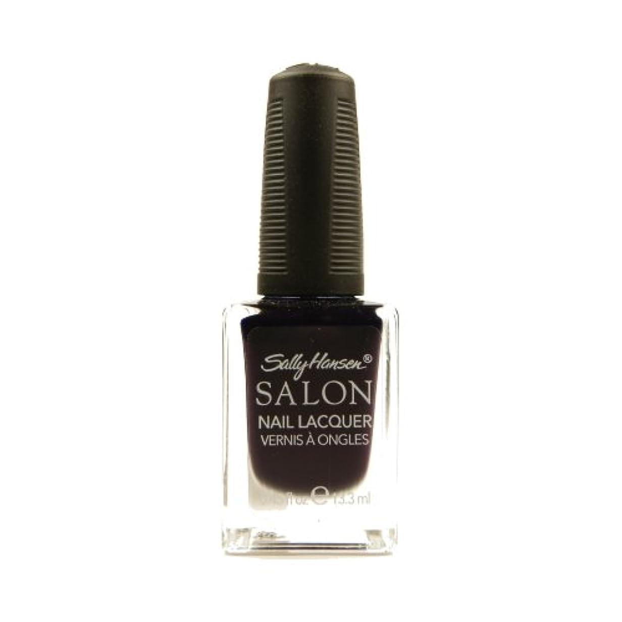 唯物論練習ペパーミントSALLY HANSEN Salon Nail Lacquer 4134 - The Deepest of Violets (並行輸入品)