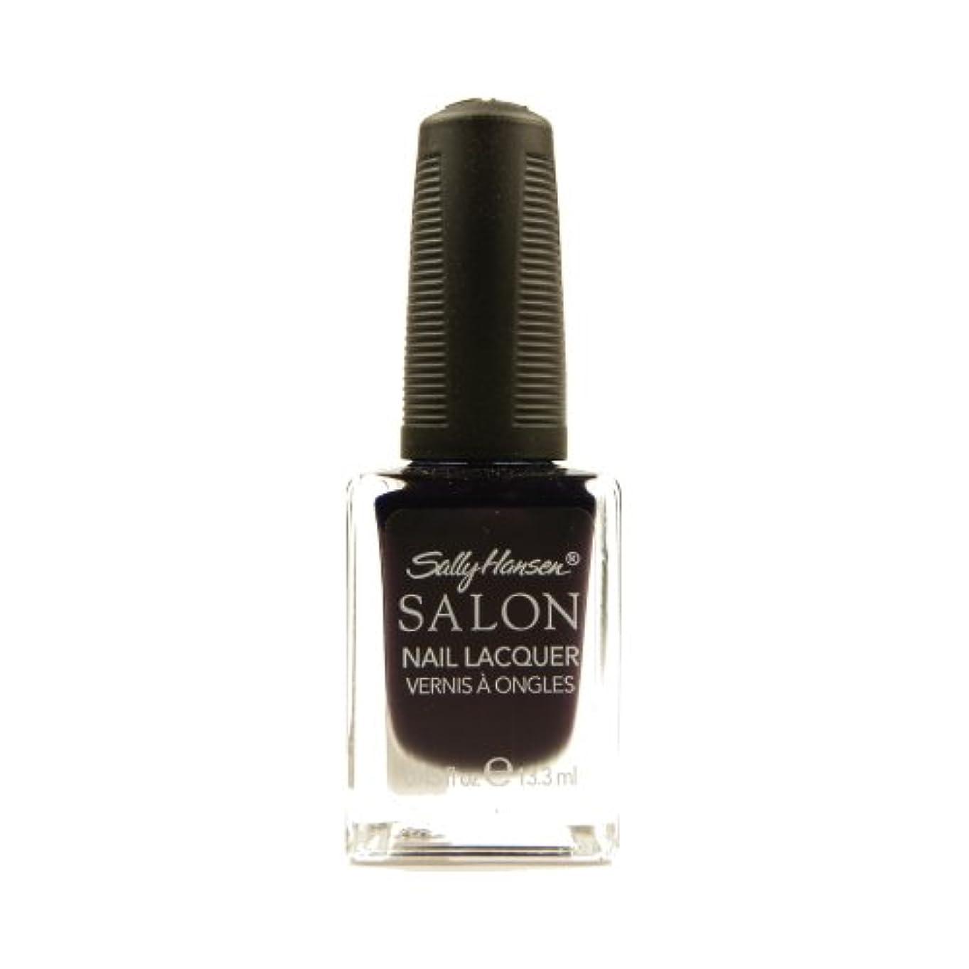 臭い印をつける週間SALLY HANSEN Salon Nail Lacquer 4134 - The Deepest of Violets (並行輸入品)