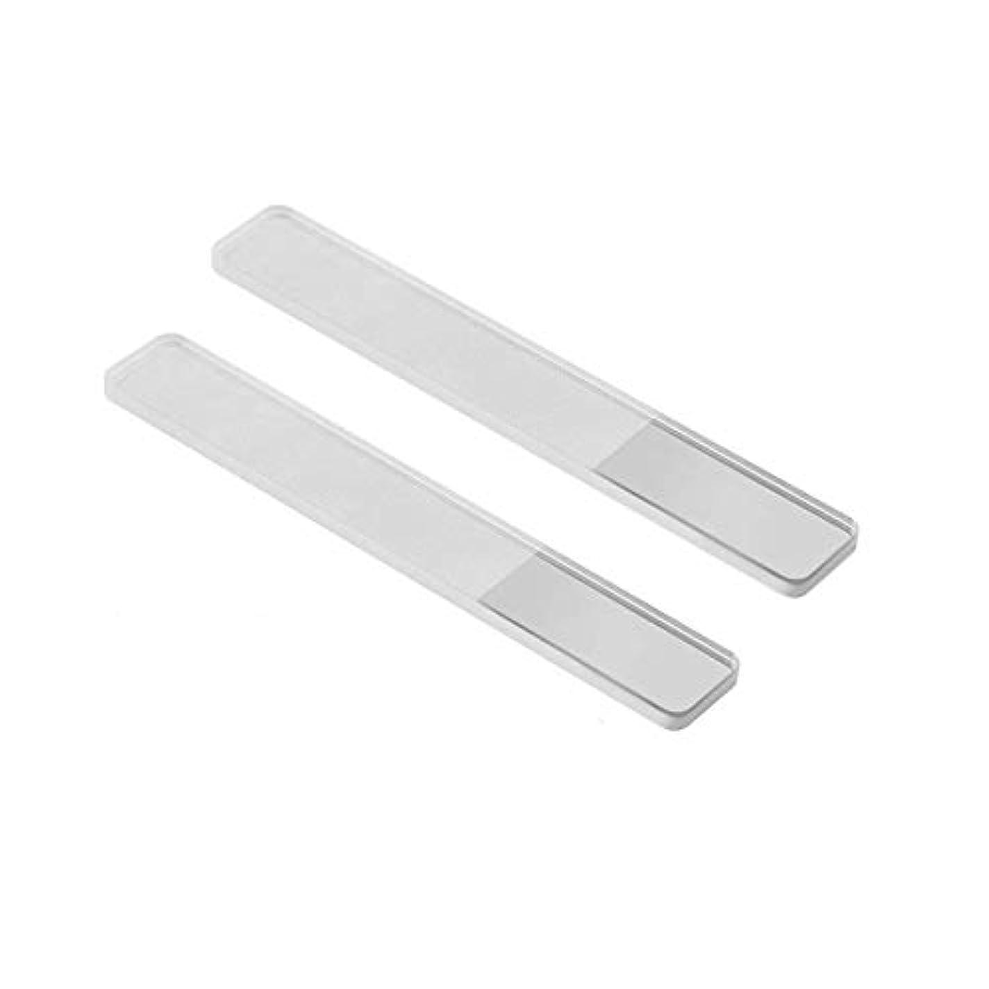 ミケランジェロ噴水サービス2個入 高品質 爪磨き 爪やすり ガラス ネイルシャイナー ピカピカ ネイルケア 甘皮処理 携帯便利