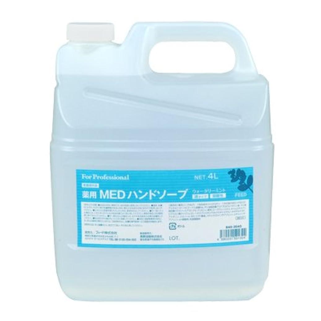 厳しい終わった生態学【業務用】 FEED(フィード) 薬用 MEDハンドソープ 液タイプ/4L詰替用 ハンドソープ(液タイプ) 入数 1本