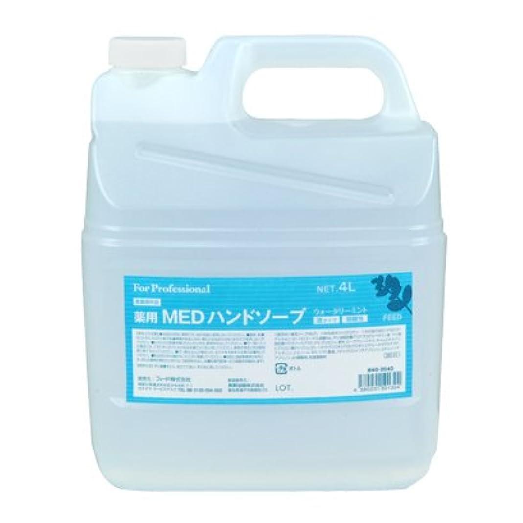 従順なモロニック定義する【業務用】 FEED(フィード) 薬用 MEDハンドソープ 液タイプ/4L詰替用 ハンドソープ(液タイプ) 入数 1本