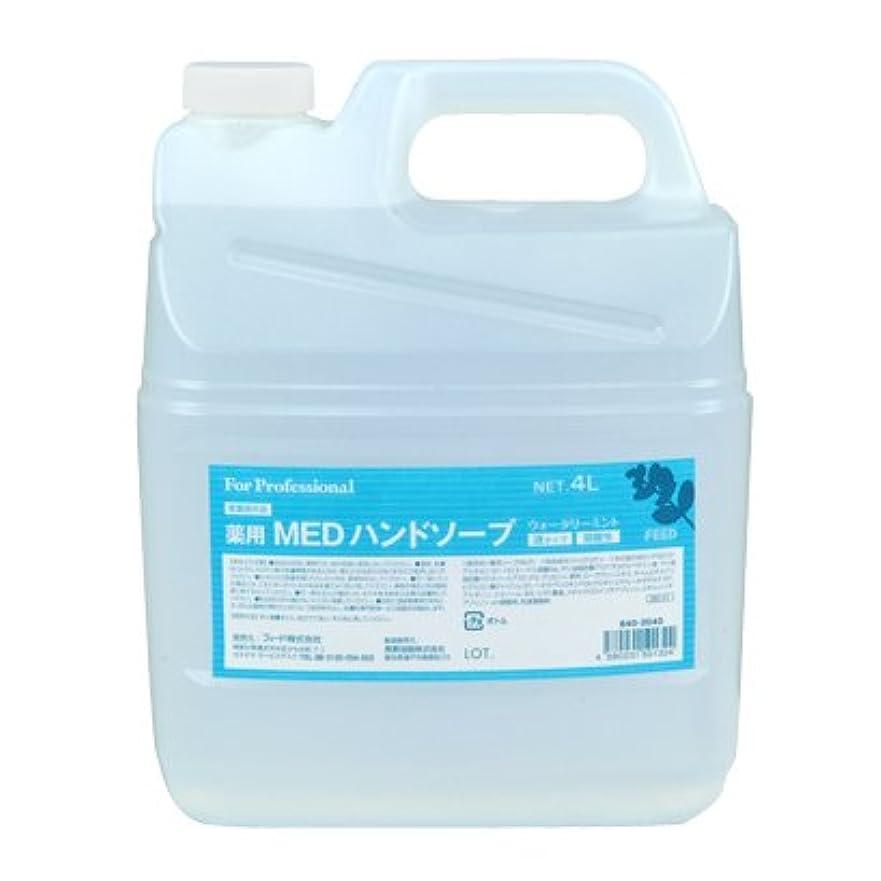 ステージ標高植生【業務用】 FEED(フィード) 薬用 MEDハンドソープ 液タイプ/4L詰替用 ハンドソープ(液タイプ) 入数 1本