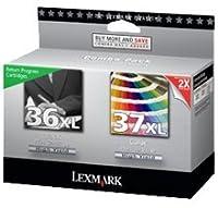 ~ブランド新しい元Lexmark 18C2170/ 18C218036x L / 37x l高イールドインク/インクジェットカートリッジブラックカラーコンボパック