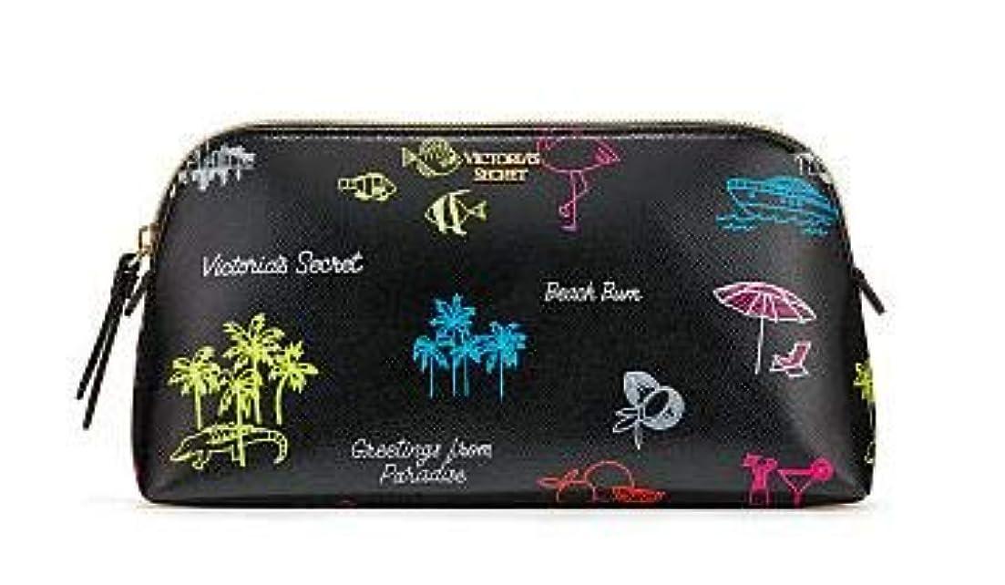ベルベットメイエラディスカウントVICTORIA'S SECRET ヴィクトリアシークレット ポーチ スモールサイズ Neon Paradise Beauty Bag [並行輸入品]