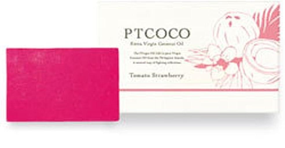 バンジョーそこから順応性のあるPTCOCOソープ トマトストロベリー 100g