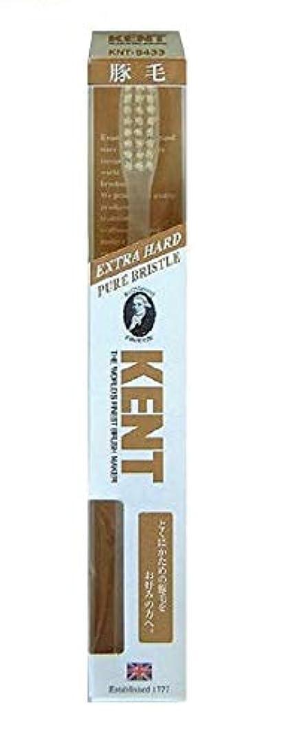 休憩するたるみエスカレートKENT 豚毛歯ブラシ KNT-9433 ラージヘッド 超かため