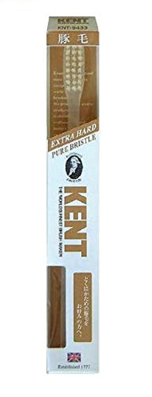 貴重な蒸留まとめるKENT 豚毛歯ブラシ KNT-9433 ラージヘッド 超かため