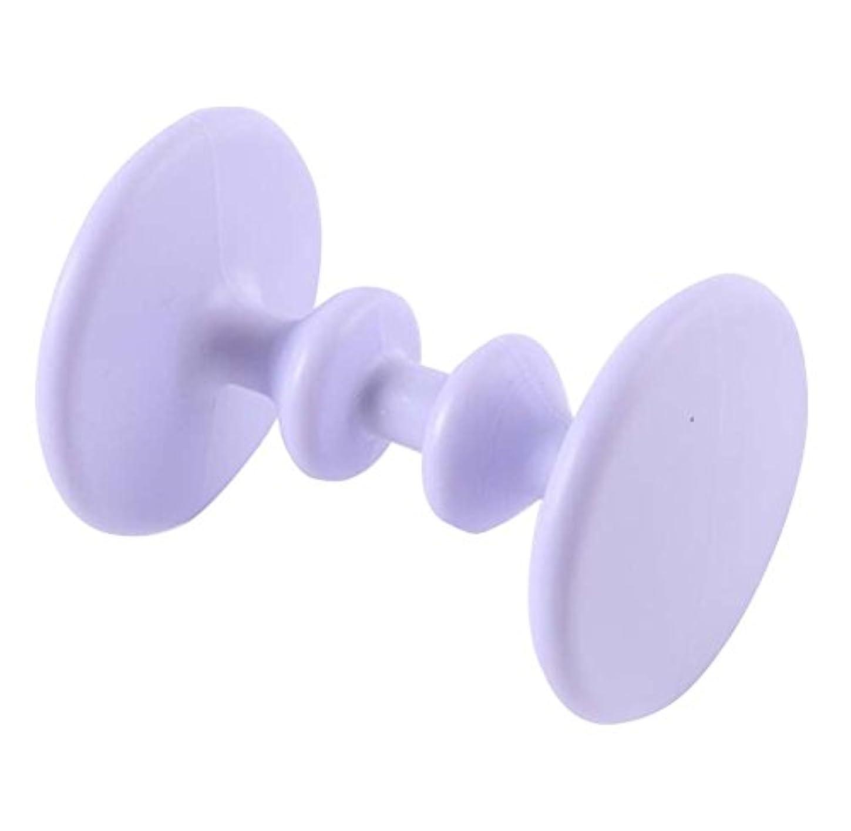 変化する持っている排除ローラー式マッサージフット鍼治療ポイントプラスチックマッサージ - パープル