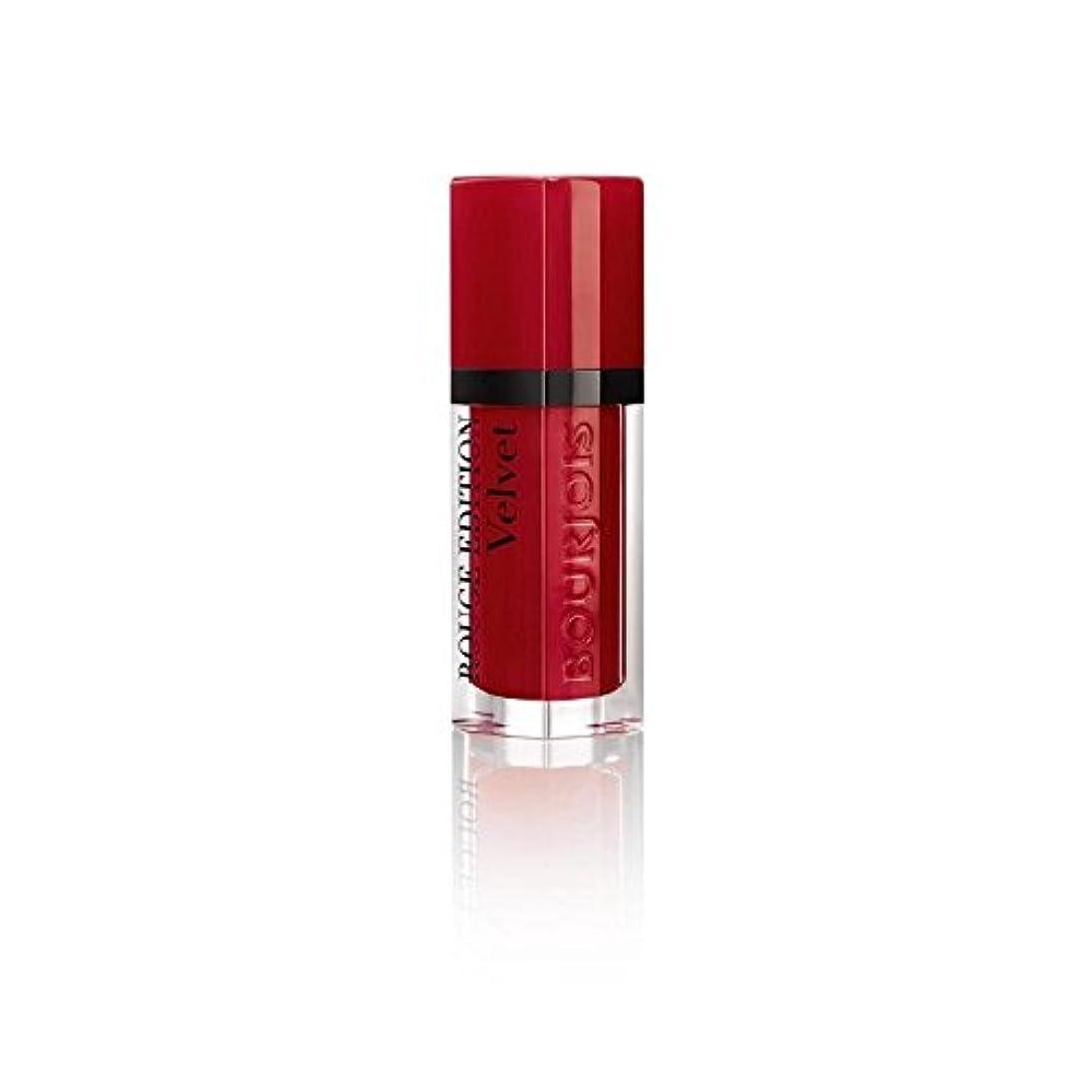 忘れっぽい流出あるルージュ版のベルベットの口紅、赤い旋回運動の8ミリリットル (Bourjois) - Bourjois Rouge Edition Velvet Lipstick, Red Volution 8ml [並行輸入品]