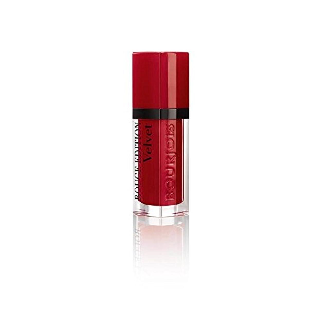 遺跡ヒョウ賢いルージュ版のベルベットの口紅、赤い旋回運動の8ミリリットル (Bourjois) - Bourjois Rouge Edition Velvet Lipstick, Red Volution 8ml [並行輸入品]