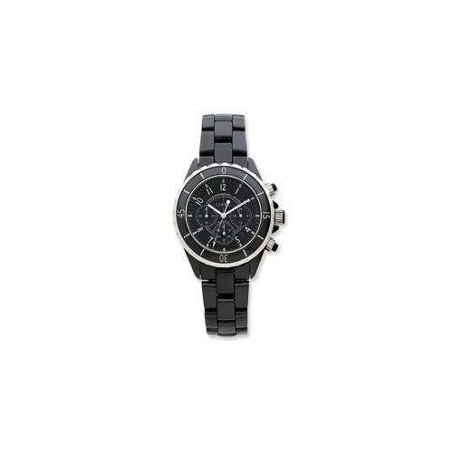 腕時計 Mens Chisel Black Ceramic and Dial Chronograph Watch TPW5【並行輸入品】