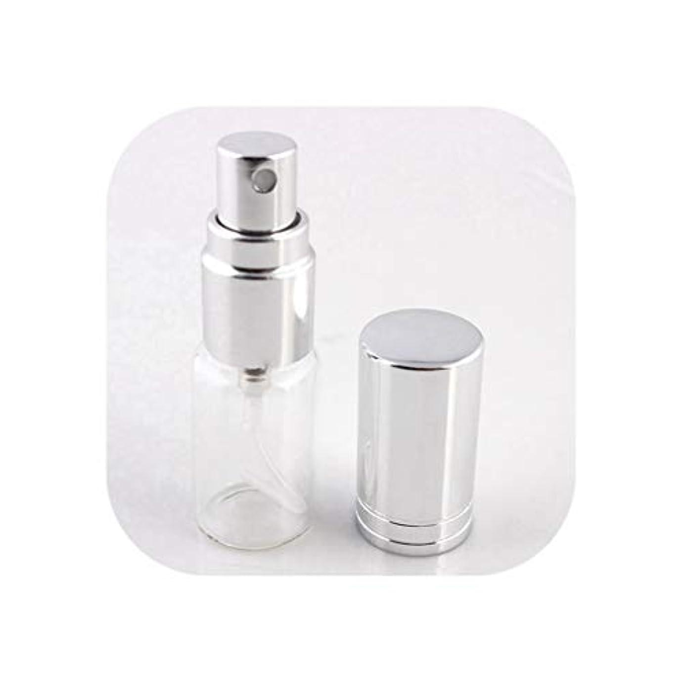 胸意識基礎旅行のためのアトマイザー空の化粧品容器でスプレー、SV1-Lとの1pcsは5ミリリットル/ 10MLポータブルカラフルなガラスの詰め替え香水瓶