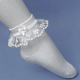 子供レース ソックス リボン 靴下 こども 靴下通販 女の子 キッズ 靴下 フォーマルソックス 白 レースソックス 2足セット ((3-5歳) 13-15cm)