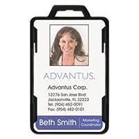 secure-twoカードRFIDブロックバッジ、33/ 8x 21/ 8、ブラック、20per pack by : Advantus