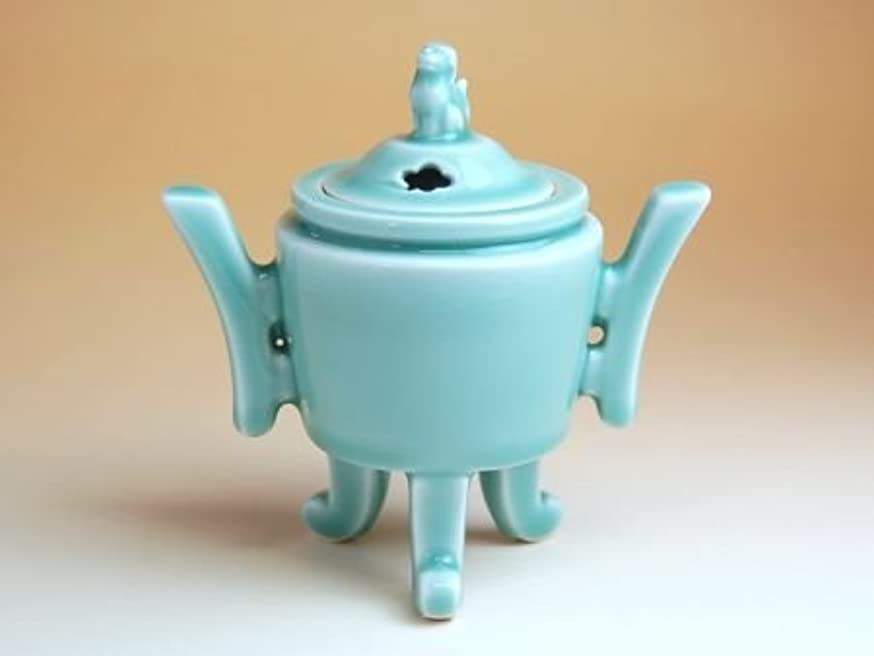 有田焼 青磁両立 香炉【サイズ】径14.4cm×高さ14.7cm