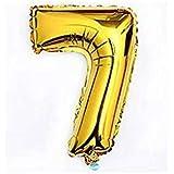 Liroyal ちょうど良い大きさ 数字バルーン ゴールド 誕生日 ウェディング パーティーに (7)