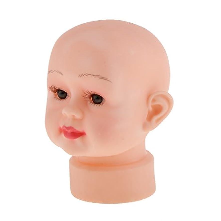 に話す同化する摂氏度Toygogo 赤ちゃん子供マネキンマネキンヘッドかつら帽子メガネディスプレイショーSt - 1#