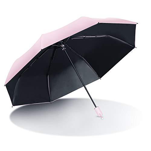 折りたたみ傘 AISITIN 日傘 UVカット100遮光 傘 レデイース 8本骨 超軽量 手動開閉 折り畳み傘 UPF50 遮熱 紫外線遮断 晴雨兼用 コンパクト 傘 収納ポーチ付き ピンク