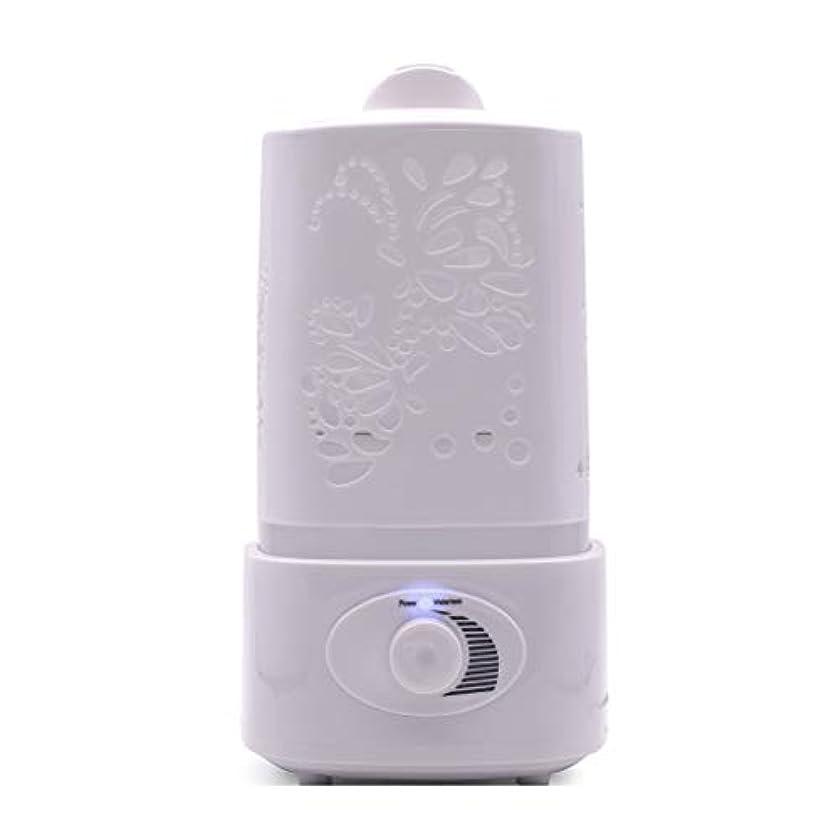 簡単に束楕円形涼しい霧の空気加湿器、家、ヨガ、オフィス、鉱泉、寝室のために変わる色LEDライトと超音波1500ml - 木目 - (Color : White)