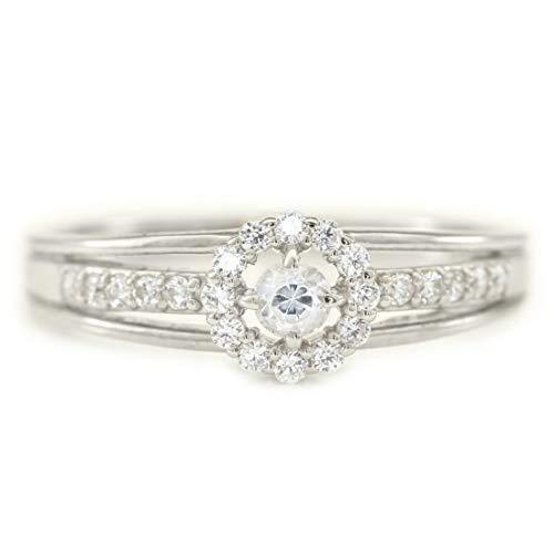 [ココカル]cococaru プラチナ Pt900 ダイヤモンド リング 0.2ct 重ね付け 指輪 ピンキーリング 天然 ダイヤモンド 日本製