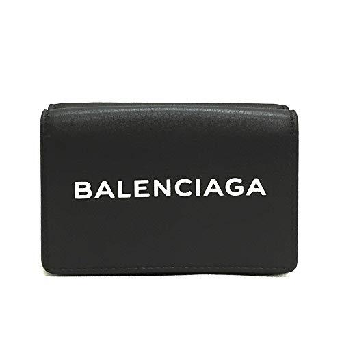 [バレンシアガ] BALENCIAGA レディース 三つ折財布 エブリデイ ミニ ウォレット 516402 DLQ4N 1000 レザー ...
