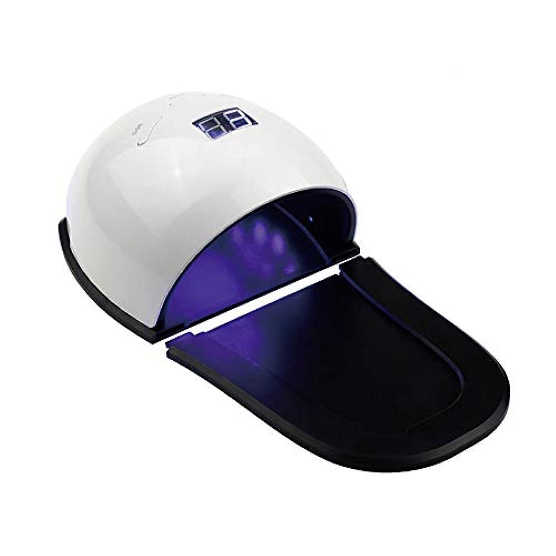 契約した有毒な言い訳釘のドライヤー - 自動赤外線センサー、二重光源のLEDランプのゲルのドライヤーのマニキュアが付いている紫外線携帯用LEDの釘ランプ