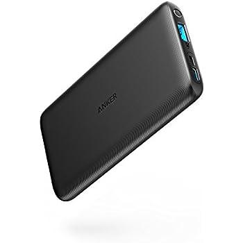 Anker PowerCore Lite 10000(10000mAh 大容量 モバイルバッテリー)【PSE認証済/PowerIQ搭載/USB-C入力ポート搭載/薄型設計/コンパクトサイズ】iPhone&Android対応(ブラック)