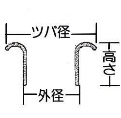 ミニハトメ2ミリ(金ブロンズ)