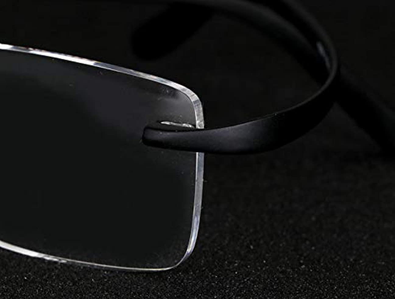 FidgetGear ユニセックス老眼鏡縁なし老眼リーダー眼鏡レンズフレキシブルTR new ブラック