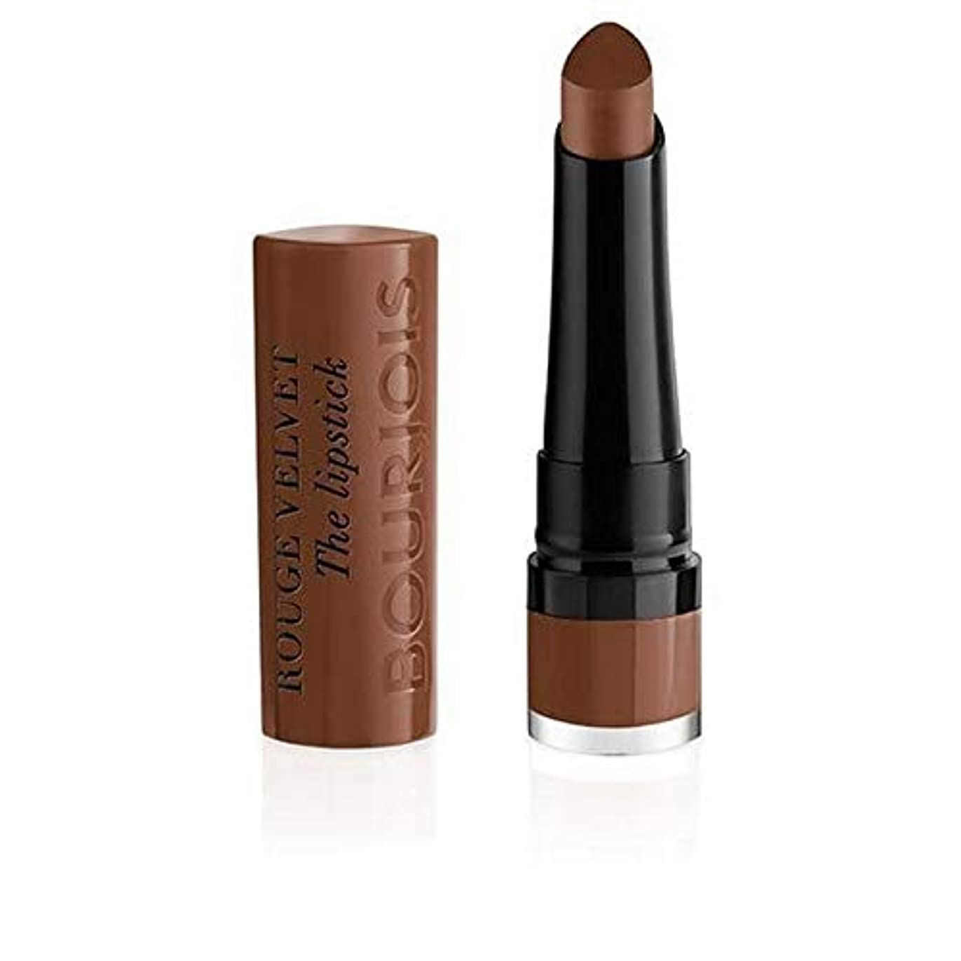 揮発性知人サイズ[Bourjois ] ブルジョワルージュのベルベット口紅 - Brownette 14 - Bourjois Rouge Velvet The Lipstick - Brownette 14 [並行輸入品]