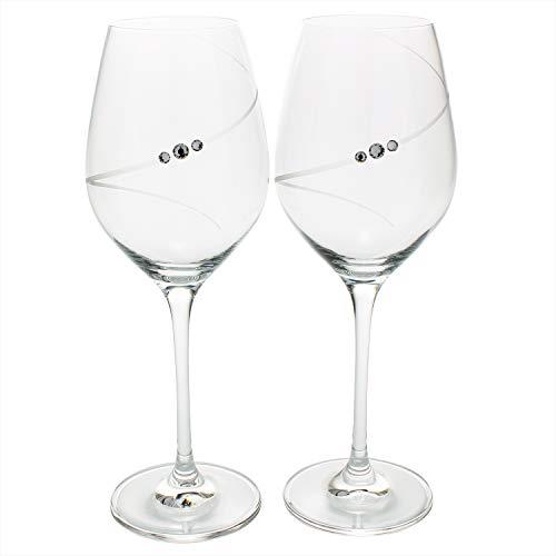 ロナ シルエット スワロフスキーエレメント ワイン グラス ペア (化粧箱入) 266912