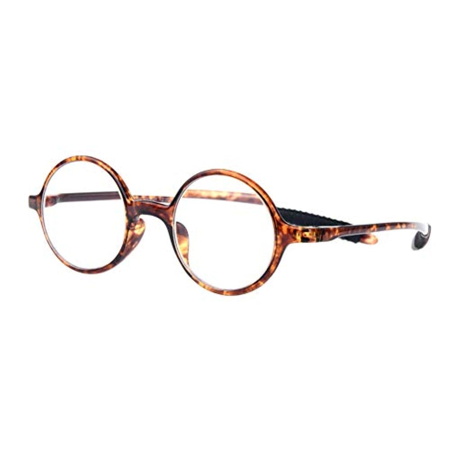 ユニセックス 老眼鏡 ケース付き ビンテージ トランスペアレント 丸レンズ アンチブルーライト 超軽量 ファッション 眼鏡 +1.0 / +1.5 / +2.0 / +2.5 / +3.0視度 力 アイウェア 男性向け女性向け