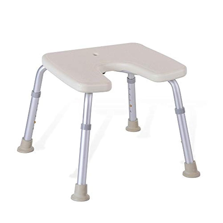 熱狂的な滑り台集中的な調節可能なU字型の高齢者用浴槽シート、バスチェア、保護パッド付きパッド、シャワースツール