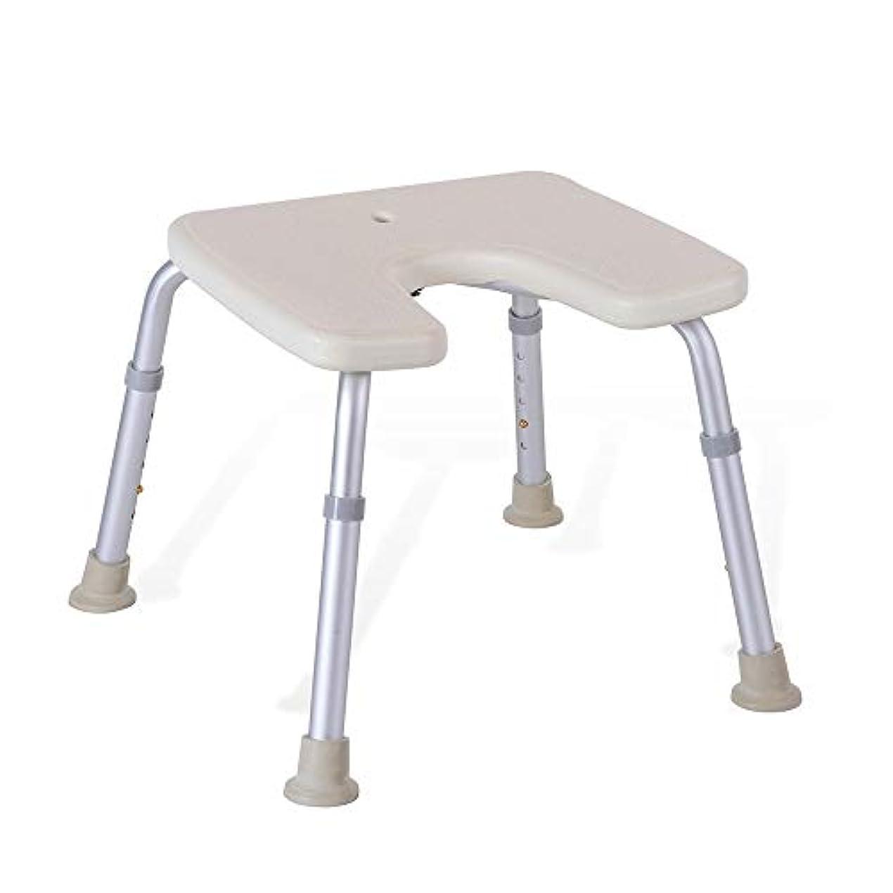 打ち負かす耐えられないベリ調節可能なU字型の高齢者用浴槽シート、バスチェア、保護パッド付きパッド、シャワースツール