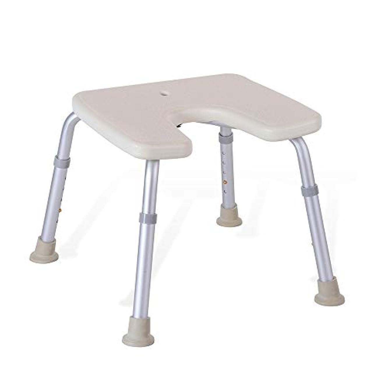 商品バングラデシュ衝突コース調節可能なU字型の高齢者用浴槽シート、バスチェア、保護パッド付きパッド、シャワースツール
