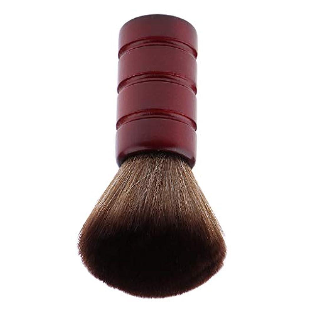 待って流産軽量バーバー ネックダスターブラシ 理髪 サロン 顔のダスターブラシ シェービング ヘアカット ブラシ