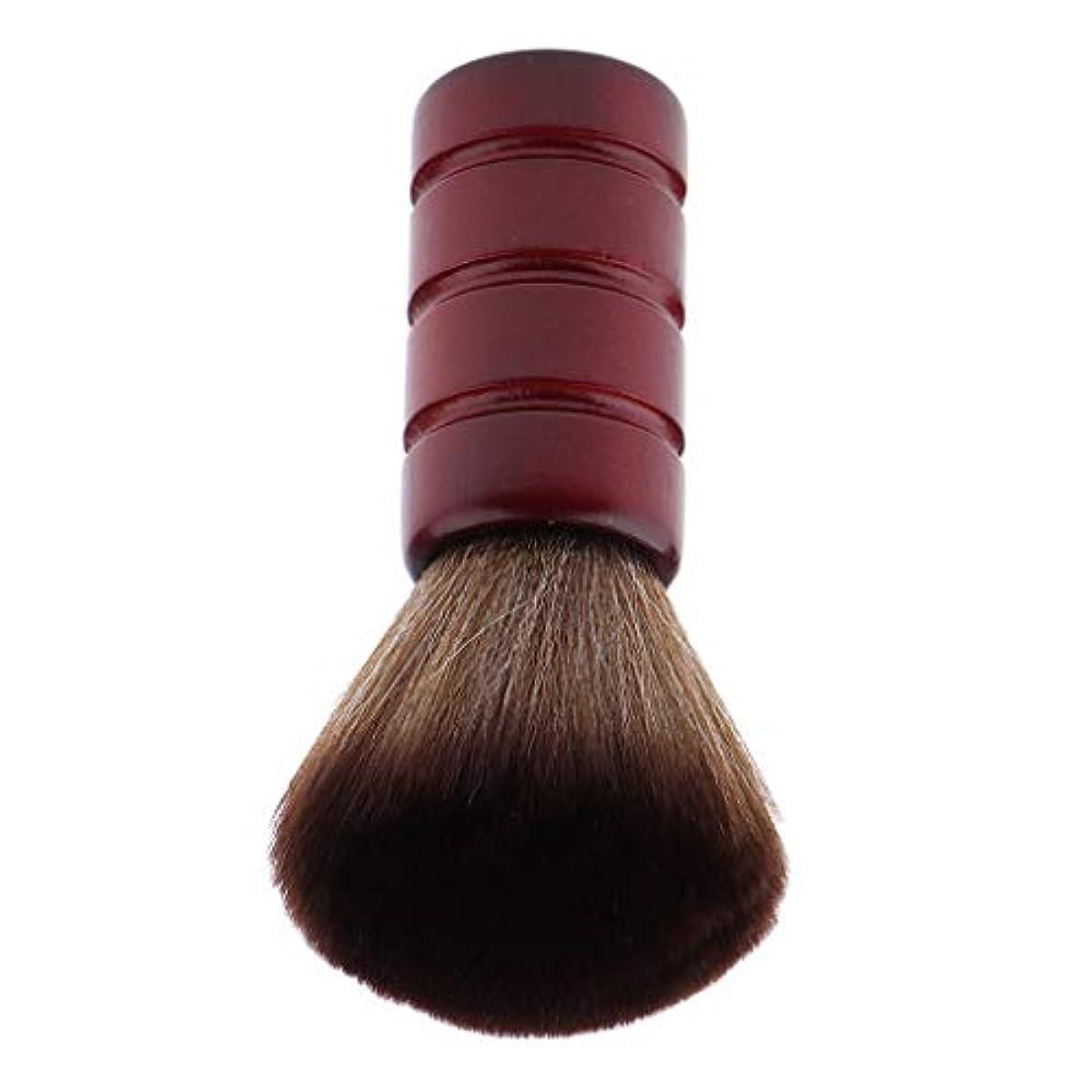 宣言事パキスタン人F Fityle バーバー ネックダスターブラシ 理髪 サロン 顔のダスターブラシ シェービング ヘアカット ブラシ
