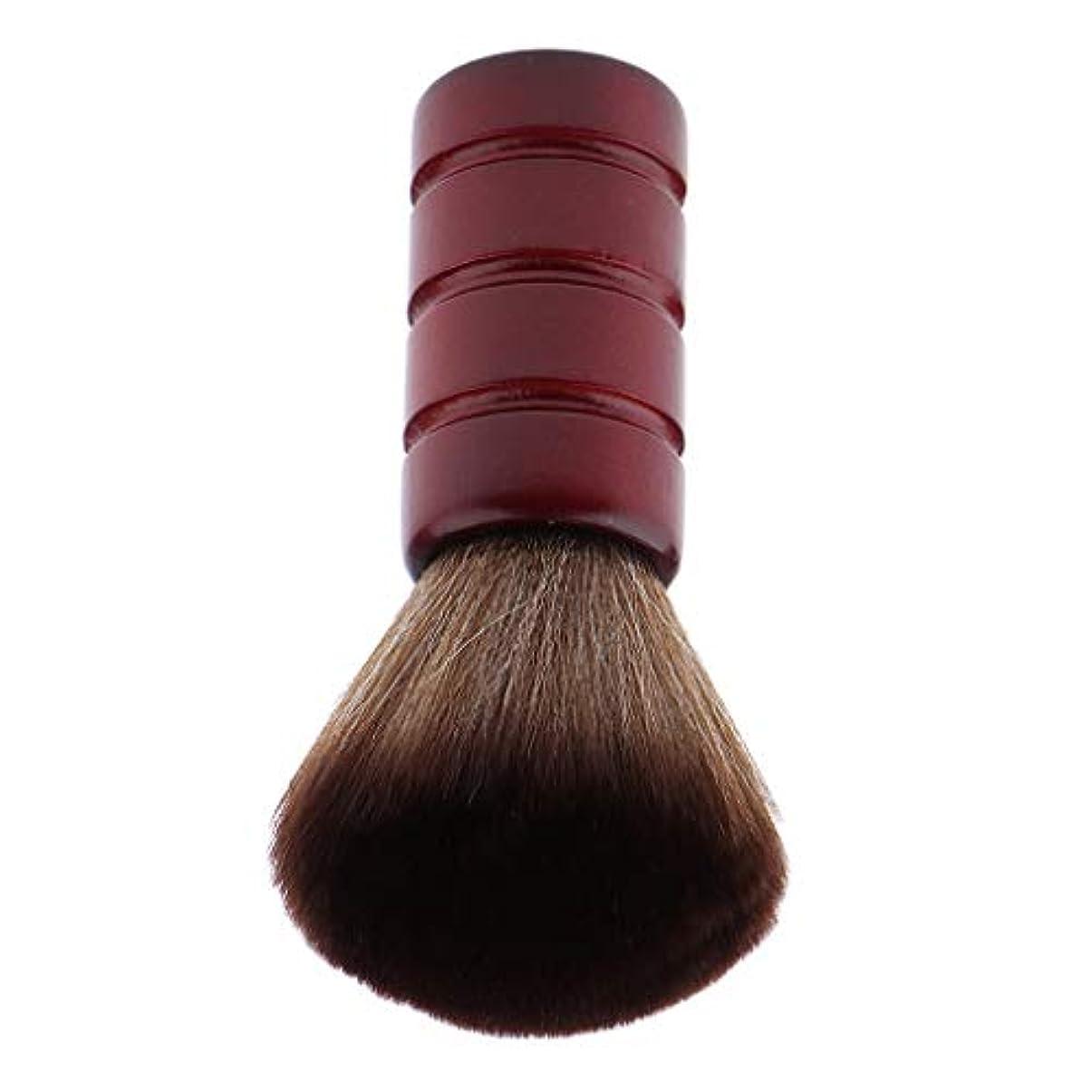 F Fityle バーバー ネックダスターブラシ 理髪 サロン 顔のダスターブラシ シェービング ヘアカット ブラシ